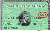 Card Security Code - American Express