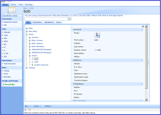 About SharePoint Site User Directory