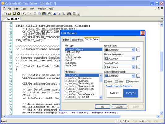 About Codejock Syntax Edit Visual C++ MFC