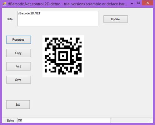 About dBarcode.NET 2D Universal