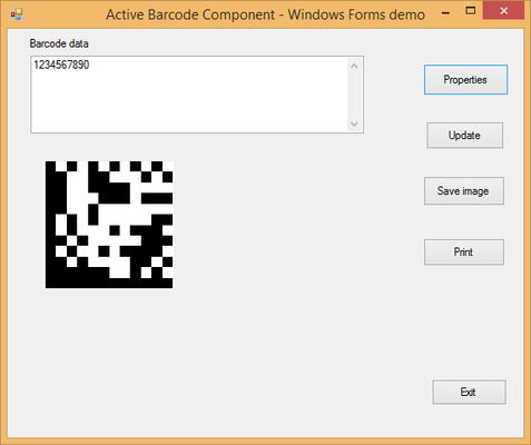 About Active 2D Barcode Component - DataMatrix