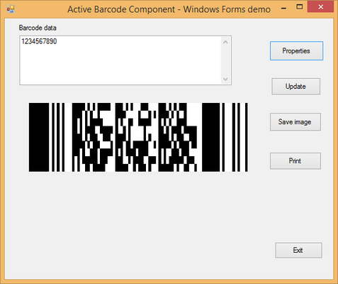 About Active 2D Barcode Component - PDF417