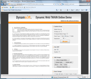 Dynamic Web TWAIN adds 1D Barcode Reader