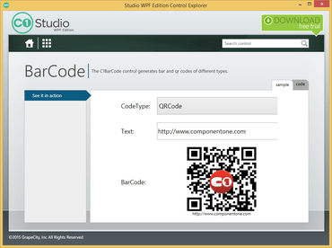 ComponentOne Studio for WPF adds Barcodes
