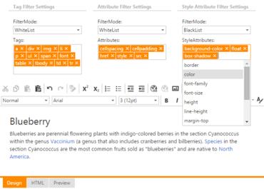 DevExpress ASP.NET adds MVC Content Element Filtering