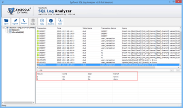 SysTools SQL Log Analyzer released
