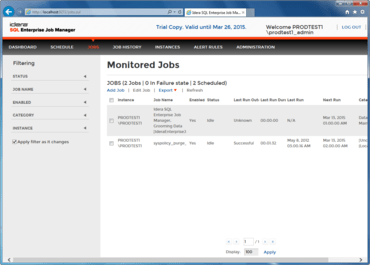 SQL Enterprise Job Manager released