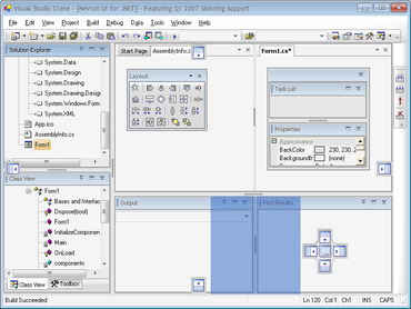 Nevron UI Suite adds VS2010 support