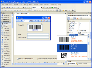 .NET barcode component adds symbologies