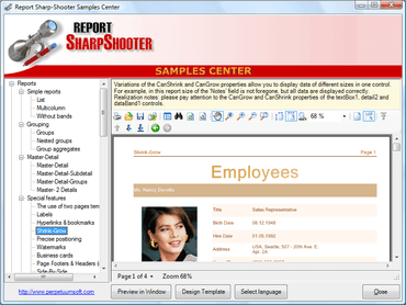 Report Sharp-Shooter adds context menu