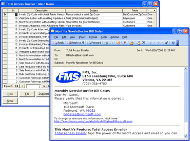 Total Access Emailer for Access 2010 now available