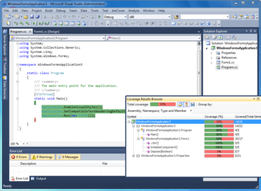 dotCover integrates with ReSharper 6
