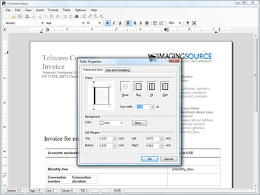 TX Text Control ActiveX 17.0 adds cell merging