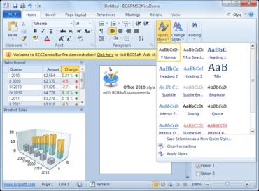 BCGControlBar adds Visual Studio 2012 support