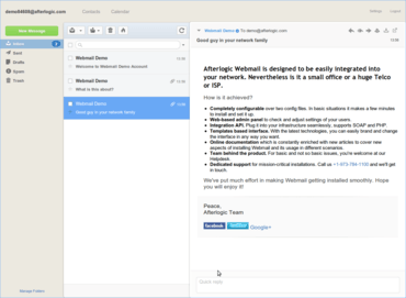 WebMail Pro for PHP adds IMAP Grouping