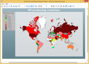 ActiveReports 8 adds Maps Report Item