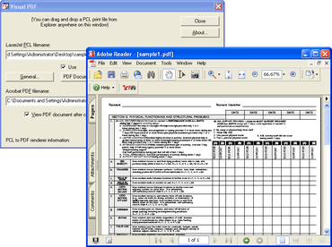 Pcl2pdf for Windows PC (Visual PDF) updated