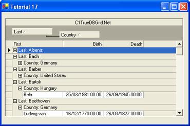 ComponentOne True DBGrid for WinForms updated