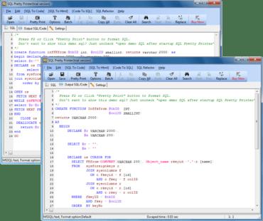 SQL Pretty Printer updated