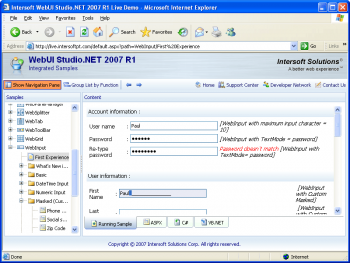 Publicité pour WebInput