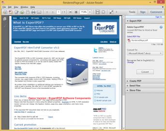 Advert for ExpertPDF HtmlToPdf Converter